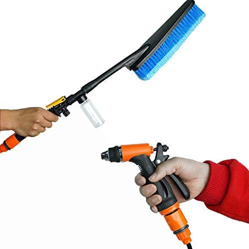 SKLLA autowasmachine 12 V pomp autowaspistool, draagbare borstelmachine automatische kunst elektrisch waterpistool borstelpomp, 20 l, borstel 25 cm + 12,5 cm handvat
