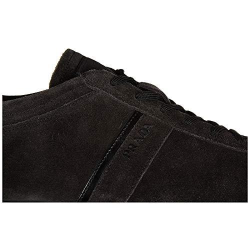 Prada scarpe sneakers uomo camoscio nuove grigio