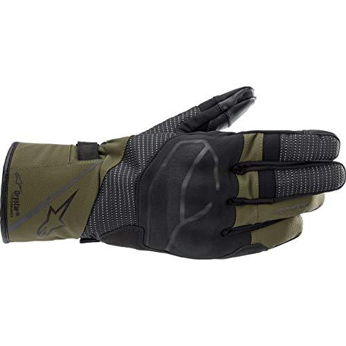 Alpinestars Motorradhandschuhe lang Motorrad Handschuh Andes V3 Drystar Handschuh lang grün L, Unisex, Enduro/Adventure, Ganzjährig, Textil
