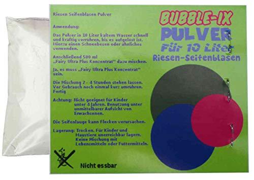 Bubble-Ix Riesenseifenblasen Pulver für 10 L Flüssigkeit. Für Geburtstag Hochzeit Party Fest Riesenseifenblasen Spiel