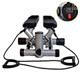 RANRANHOME Stepper Up-Down, Fitness Máquina Step Pequeño Compacto Swing Stepper Estable con Resistencia Regulable Y...