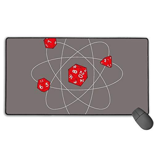 Vondielin Wheatons Atoms Würfel übergroßes Mauspad im Figurenstil, rutschfestes Gaming-Mauspad für Schreibtisch, Laptop, PC, Peripheriegeräte, 40 x 75 cm