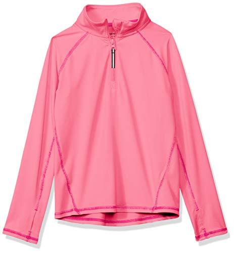 Amazon Essentials Jacke für Mädchen, mit halblangem Reißverschluss, Pink, US M (EU 128 CM)