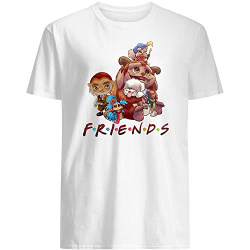 #Labyrinth Friends Funny Movie Musical Fantasy Jareth #Hoggle Goblin #Sarah Williams Toby #Williams Gift for Female Women Unisex T-Shirt (White-XL)