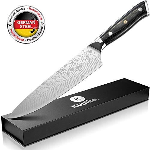 KUPIKA Kochmesser 20cm Messer-Klinge - Allzweckmesser, Fleischmesser - scharfes Küchenmesser aus Edelstahl - Profi Chefmesser