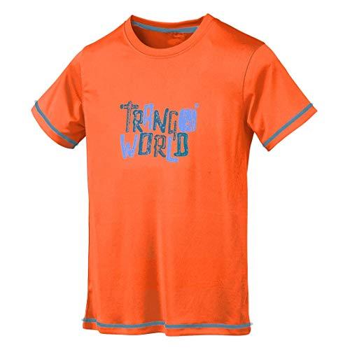 Trangoworld Wupper DT T-Shirt Unisexe Enfant XS Rouge-Orange