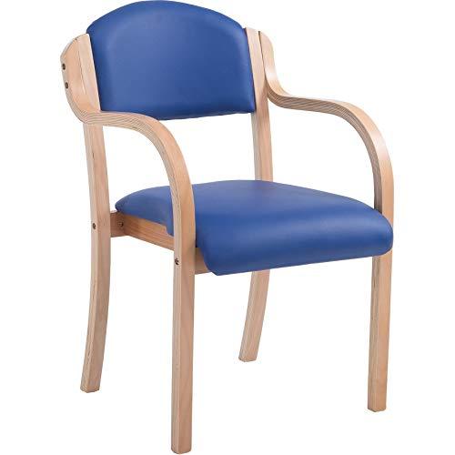 Office Furniture Online Stapelbare Armlehnenstuhl mit Vinyl-Sitz | Devonshire | Blau