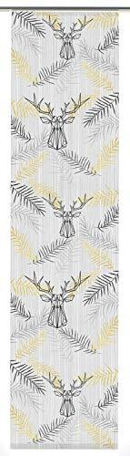 Gardinia Flächenvorhang Elch (1 Stück), Schiebegardine, Transparent, Plastik, 60 x 245