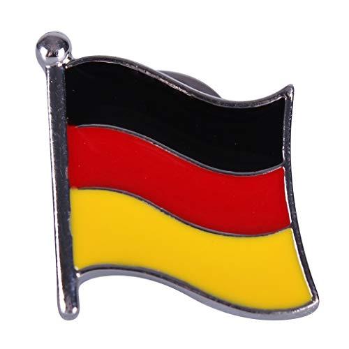 QHP Anstecknadel Reversnadel Flagge Brosche in Flaggenform (Deutschland)