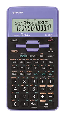 Sharp EL-531 TH-VL Wissenschaftlicher Schulrechner (D.A.L.-Eingabe, Batteriebetrieben) violett