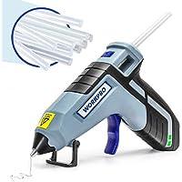 WorkPro Cordless Mini Hot Glue Gun with 20 Glue Sticks (Upgraded Version)