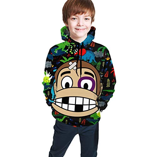 Alifasco Monkey Fighter Hoodie Sweatshirts Pullovers S-2xl Long Sleeve Fitness Hoody for Younth 14-16 Years