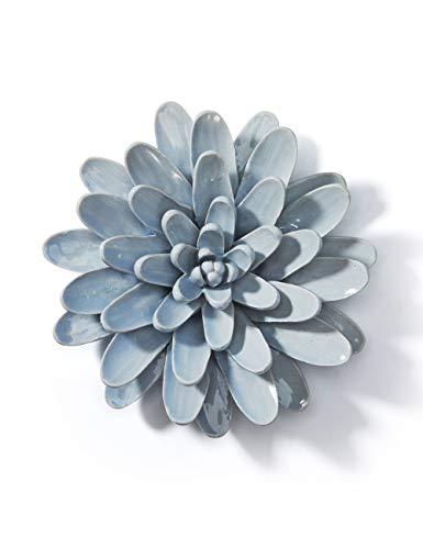SEINHIJO 3D Flor Artificial Decoración de Pared Wall Decor Art Decorativa Figurilla para Estatuilla Regalos Cerámica 16.5cm Dia