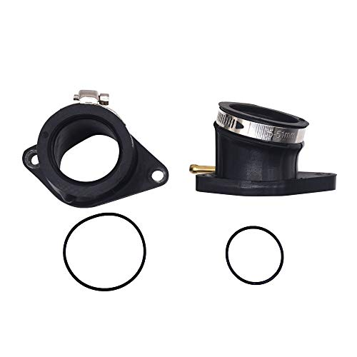 HuthBrother L & R Intake Manifold Carburetor Boot Joint Compatible with Yamaha Raptor 660 660r 2001-2015,Replace 5LP-13586-01-00, 5LP-13596-01-00