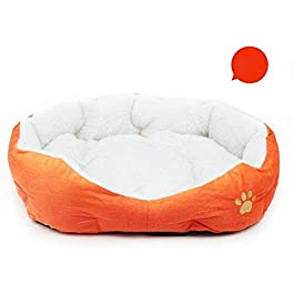 LAAT 1X Round or Oval Dimple Shape Nesting Dog Cave Bed Pets Pad Beds Puppy Sofa Home Decoration for Small Dogs Cats Use