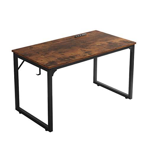 "Home Office Desk, Modern Industrial Simple Style Computer Desk, Workstation, Sturdy Writing Desk, Flrrtenv(39"", Rustic Brown)"
