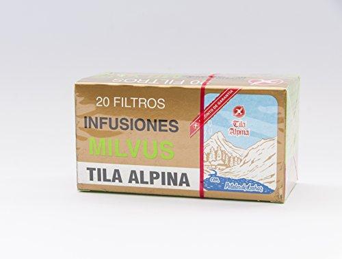 Milvus Tila Alpina 20 Filtros Con Petalos De Azahar Envase De 20 Filtros 100 ml