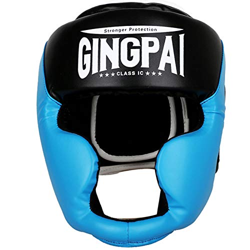 ZHXQ Leather Head Guard,Kickboxing Sparring Protector,Sparring Kickboxing Protector,Head Gear for Boxing,Kick Boxing,Semi Contact,Thai Kick Boxing,Fighting and Combat Training
