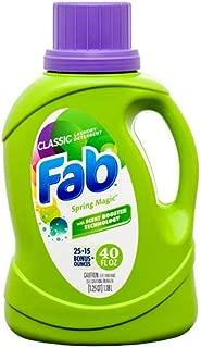 New 375618 Fab Liquid Detergent Classic 40 Oz (9-Pack) Laundry Detergent Cheap Wholesale Discount Bulk Cleaning Laundry Detergent