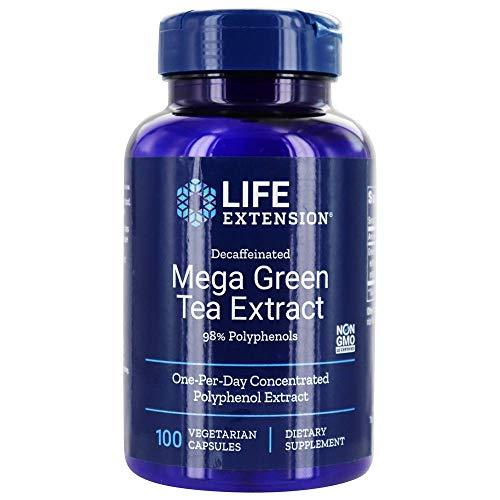 Life Extension - Descafeinado de extracto de té verde Mega 98% polifenoles - 100cápsulas vegetarianas