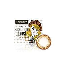 [2枚入り] シャイニングヘーゼル(Shining Hazel) by OLENS カラコン 1Month 1ヶ月 マンスリー 度あり度なし 14.2mm 全色選択可能 (ヘーゼル(HZ), PWR: -4.25)