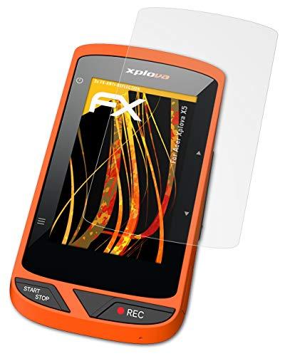 atFoliX Panzerfolie kompatibel mit Acer Xplova X5 Schutzfolie, entspiegelnde & stoßdämpfende FX Folie (3X)