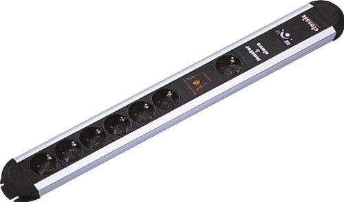 Bachmann 333.071 stekkerdoos PRIMO 6 + 1 x geaarde stekkerdoos Master&Slave en volledige beveiliging, stroomkabel 1,75 m, zwart