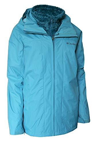 Columbia Arctic Trip 3 in 1 Interchange Omni Heat Winter Jacket Women's Plus Extended Coat (Beta, 2X)
