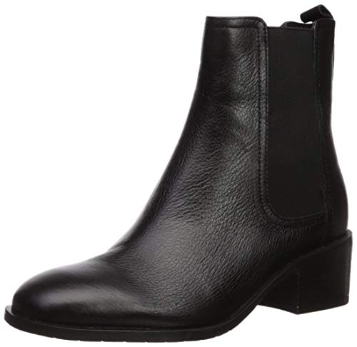 Kenneth Cole REACTION Women's Salt Chelsea Ankle Boot, Black Leather, 9.5