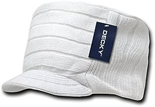 DECKY Knitted Flat Top Cap w/Visor