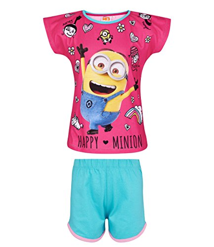 MINIONS Despicable Me Mädchen Shorty-Pyjama - pink - 128