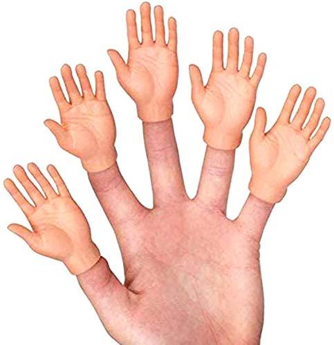 Herbests Mini Manos de Dedo, 10 Piezas Finger Hands de Manos de Dedo Divertidas Marionetas de Dedo Manos Pequeñas Marionetas de Dedo Juguetes para Halloween Regalo para Niños