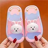 Zapatillas De Casa Mujer Abiertas,Zapatillas para NiñOs, Net Red Dibujos Animados Menores Lindo Bebé PVC Suave Non-Slip Home Beach BañO Zapatillas-EU 30-31 (180mm / 7')_a