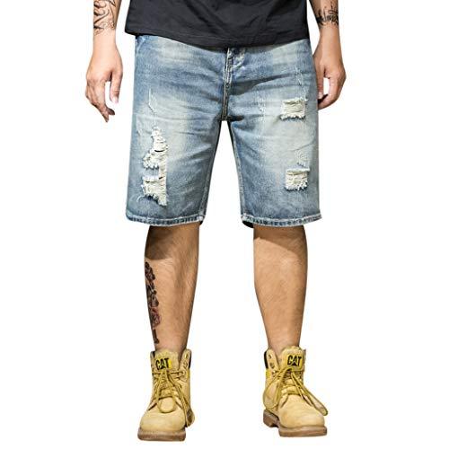 MINIKIMI übersize herenbroek jeans stretch baggy jeansbroek zomer bermuda broek heren joggingbroek vrijetijdsbroek cargo shorts S-6Xl