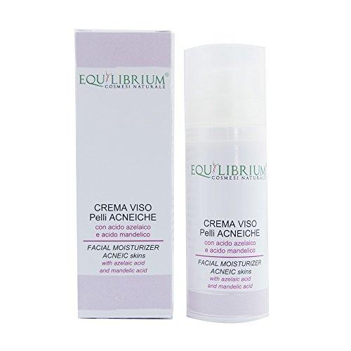 Equilibrium - Cosmética natural Crema Viso parches acneiche 50 ml con ácido Azelaico y ácido mandelico