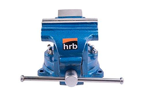 Robuster Schraubstock 100/125/150 mm für Werkbank 360° drehbar (Spannweite 125mm, Gewicht 7 Kg) - 2
