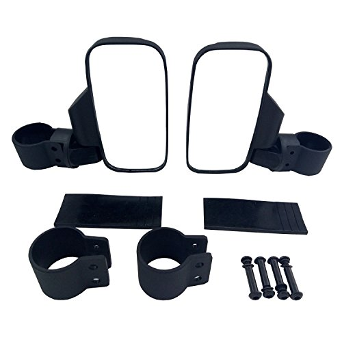 Easily Adjustable for Polaris Ranger RZR Can-Am Maverick and more Shock-proof Rubber Pad MICTUNING UTV Side Mirror with 1.75 /& 2 Mounts