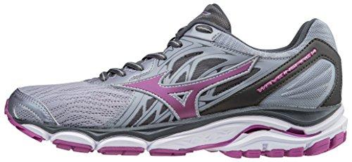 Mizuno Women's Wave Inspire 14 Running Shoe, Dapple Gray/Clover, 11.5 D US