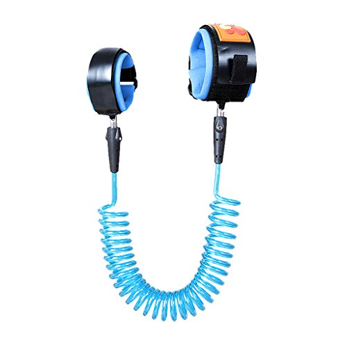 HomeDecTime New Baby Kids Toddler Child Safety Leash Wrist Link Anti-lost Traction Rope - bleu, 2,5 mètres