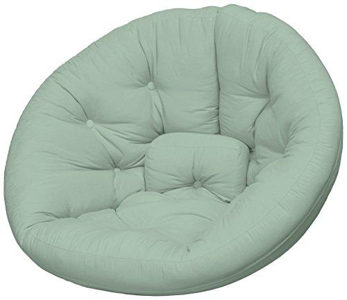 Karup Design Nest Futon Chair Sedia, Cottone/Poliestere, Menta Piperita 750, 120x110x85 cm