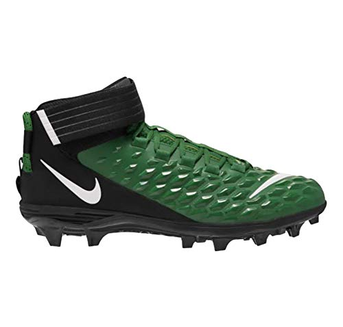 Nike Force Savage Pro 2 Mens Football Cleats (Pine Green/White-Black, Numeric_14)