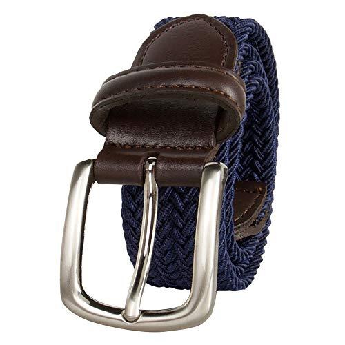 Dockers Big Boys' Braided Elastic-Web Stretch Belt, Navy, Medium