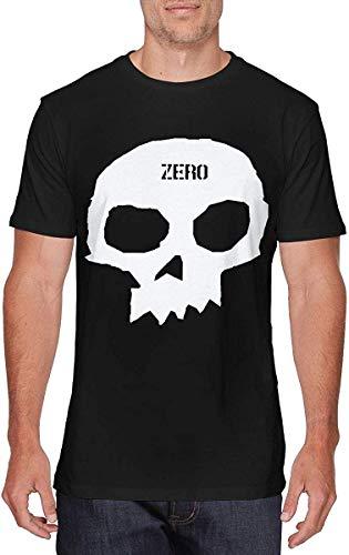 zomer mode Mens Fashion Zero Skateboards Single Skull T Shirt Zwart