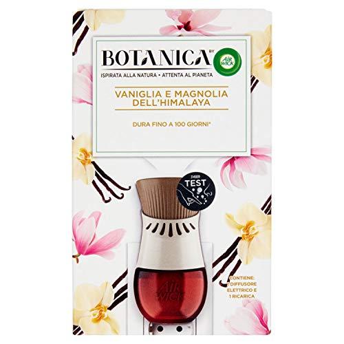 Airwick Botanica - Difusor eléctrico de fragancia, 1 kit, dispositivo y recarga de vainilla y magnolia del Himalaya