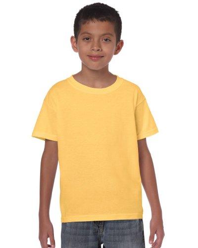 Gildan Heavy 5000B t-Shirt pour Enfant - Jaune - XS