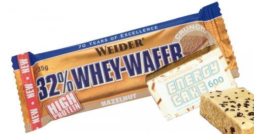 Weider, barretta energetica 32% Whey Wafer, confezione mista da 24 pezzi da 35 g