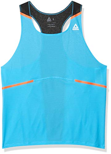 Reebok Boston Running Singlet, Bright Cyan, X-Large