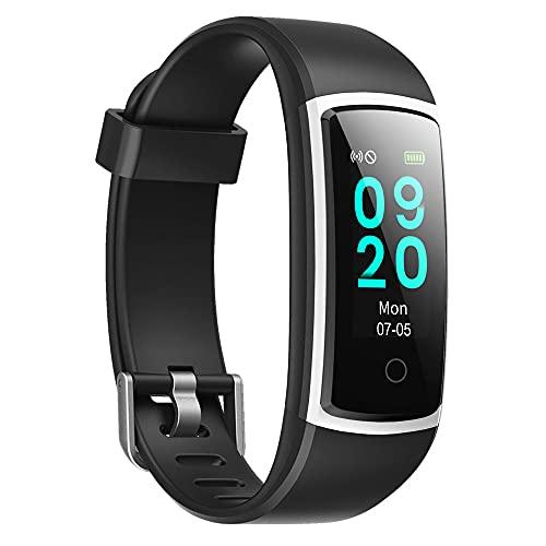 orologio fitness tracker YAMAY Smartwatch Orologio Fitness Tracker Uomo Donna Pressione Sanguigna Smart Watch Cardiofrequenzimetro da Polso Contapassi Smartband Sportivo Activity Tracker per Android iOS
