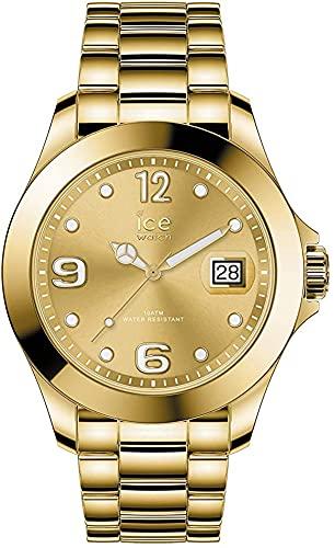 ICE-WATCH - ICE steel Gold shiny - Gold Damenuhr mit Metallarmband - 016777 (Medium)