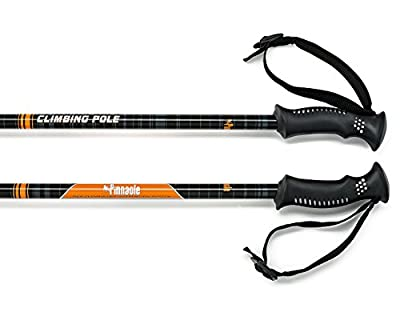Pinnacle Hiking Poles - Best Trekking Hiking Nordic Trail Walking Telescoping Collapsible Ultra Light weight Pair Trek Sticks Walking Anti shock Poles for Men | Women